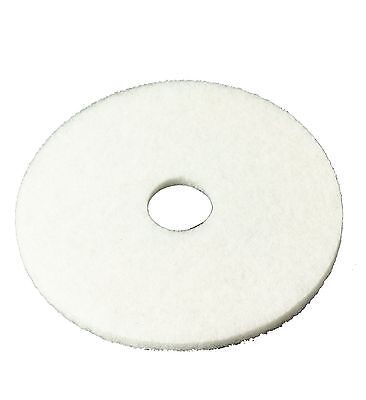 "3M White Super Polish Pad 4100 13"" Floor Pad Machine Use (Case of 5) 13 inches"