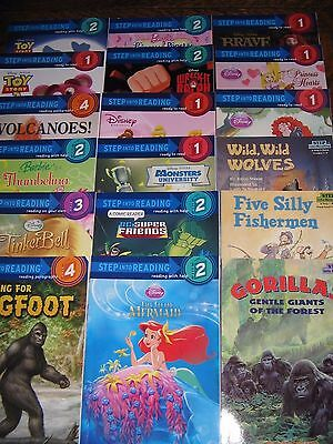 HUGE 114 Book Early Reader Lot I CAN READ Step Into Reading SCHOLASTIC Disney +