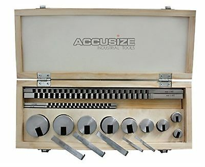 Accusize - No.10 18 ps/set HSS Keyway Broach Sets in Fitted Box #5100-0010