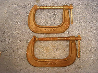 """Lot of 2 ~ C Clamps 4"""" & 5"""" Capacity ~ 1440-4"""" & 1450-5"""""""