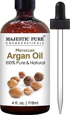 Moroccan Argan Oil for Hair and Skin From Majestic Pure 100% Natural Organic ...