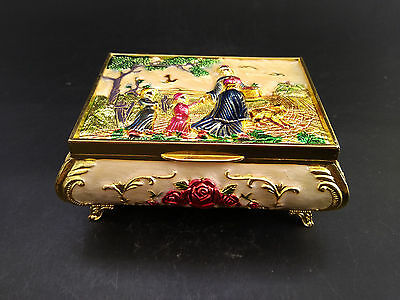 China Handwork Cloisonne Carving Flower Exquisite Jewel Box Women and children