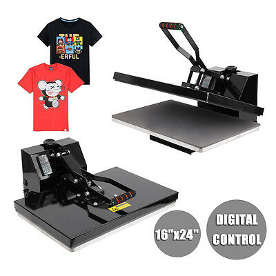 16x24 inch Clamshell T-Shirt Heat Press Machine Transfer Sublimation Digital