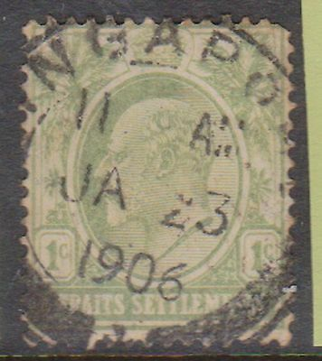 (Q18-47) 1902 Straits Settlements 1c green Edward (J)