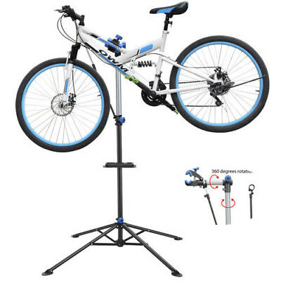 "360° Rotate Bike Cycle Bicycle Repair Stand Rack Fold Up Adjustable 52"" To 75"""