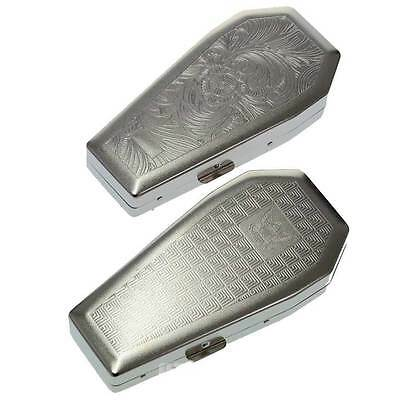 Coffin Shaped Metal Cigarette Case (Gothic)
