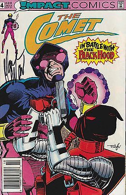 1) THE COMET#4 DC 1991 NM signed by Mark Waid writer (rare)