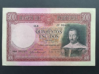 Portugal 500 Escudos P158 Dated 14th March 1952 EF/EF+