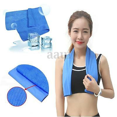 US Ice Cold Cool Sport Towel Scarf Reuseable Cycling Jogging Golf Hiking New