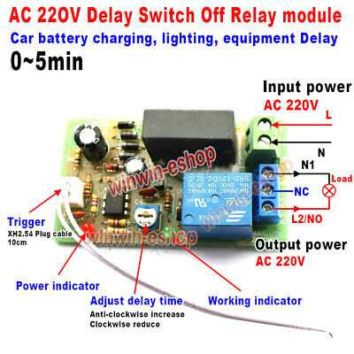 AC 220V 230V 240V Trigger Delay Switch Turn Off Board Timing Timer Relay Module