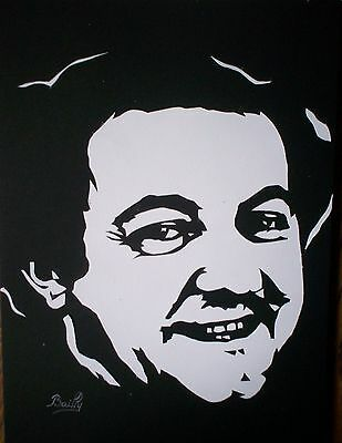 "Portrait composition papier ""Coluche (2)"""