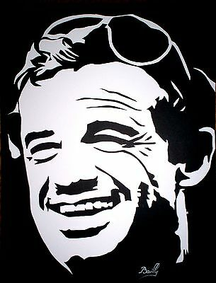 "Portrait composition papier ""Belmondo"""
