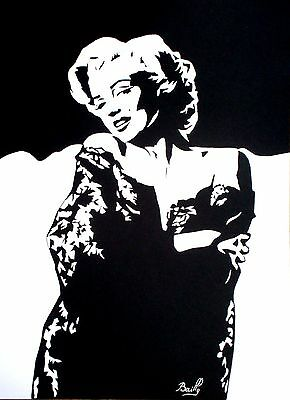 "Portrait composition papier ""Marylin Monroe"""
