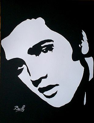 "Portrait composition papier ""Elvis"""