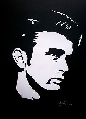 "Portrait composition papier ""James Dean"""