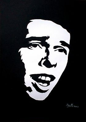 "Portrait composition papier ""Brel (2)"""