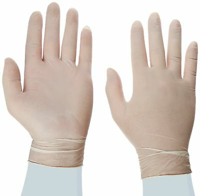 Disposable Latex Gloves Powder Free size medium 100 gloves per box 1 Box