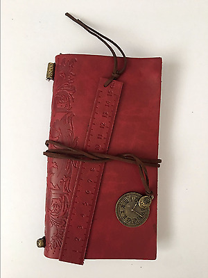 UK New Vintage Faux Leather Diary Schedule Planner Writing Notebook Organiser