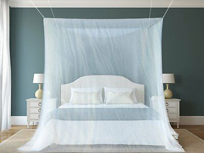 1 The Best Mosquito Net By NATURO for Double Bed Canopy | Largest Screen Nettin