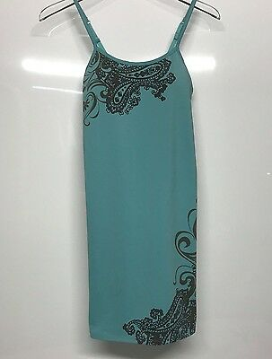 Athleta Women's Maternity Swim Tankini Top - Turquoise Print - Size Small