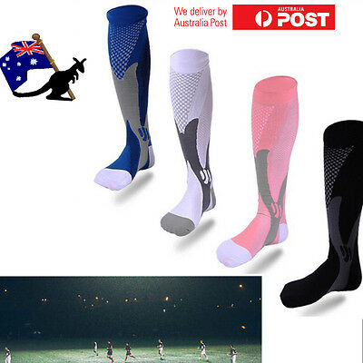 OZ Compression Sports Stockings Men Football Soccer Support  Long Socks Dry Fit