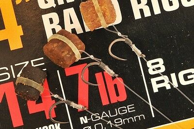 "Guru 4"" QM1 Bait Bands Ready Made Method Feeder Fishing Rigs"
