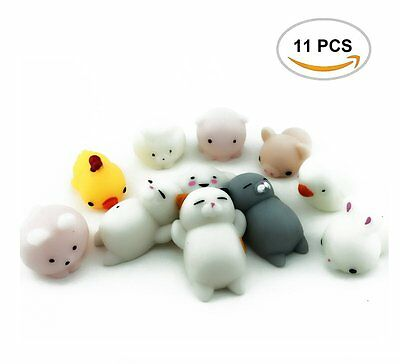 Squishy Lot Slow Rising 11 PCS fidget toy Kawaii Cute Animal Hand Toy NEW