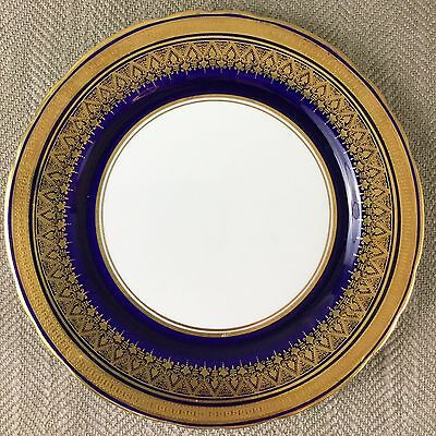 Rare Aynsley Fine Bone China Simcoe Cobalt Blue Gold Bread Plate 21cm 7410