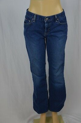 "Tommy Hilfiger Womens Low Rise Flare 34"" Waist Dark Wash Blue Jeans"