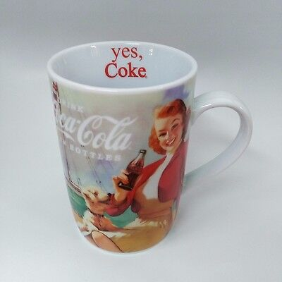 Coca-Cola Sailing Lady & Dog Mug (14oz) - BRAND NEW