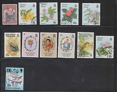 (U17-15) 1939-87 Solomon Islands mix of 42 stamps value to $1 (B)