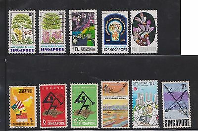 (U17-10) 1955-80 Singapore mix of 34 stamps value to $5 (B)