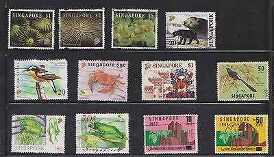 (U17-12) 1960-2008 Singapore mix of 44 stamps value to $6 (D)