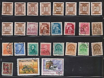(U18-1) 1941-2003 Hungary mix of 61stamps value to 500 Forint (A)