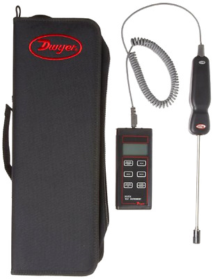 """Dwyer Digital Thermo-Hygrometer, 8"""" Probe Length - Free 2 Day Shipping"""