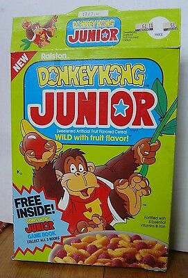 1983 Donkey Kong Junior Cereal Box game book offer Ralston