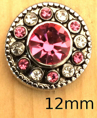 +{Snap Chunk Button Silver /& Pink Dragonfly Charm For Ginger Snap Style Jewelry