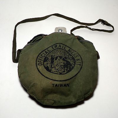 Scout classic vintage official trail mess kit Taiwan aluminium set with Canvas