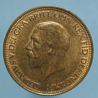 1933 George V Half Penny - Sharp Red & Brown Uncirculated
