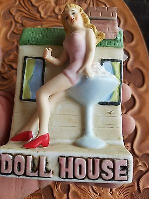 VINTAGE SALE ~ The Doll House Bar~ Dug's Brothel Decanter~Hawthorne NV~1981