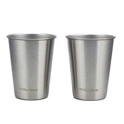 Sharkleap 12 oz Stainless Steel Cups (2 Pack) Safe Tumblers for Kids, Toddlers