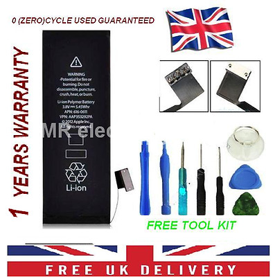 100% NEW GENUINE OEM INTERNAL REPLACEMENT BATTERY FOR IPHONE 5S 1560mAh + TOOLS