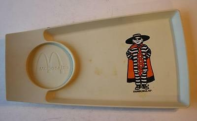 McDonald's Vintage Plastic Plate-Tray with Cup Holder Simon Marketing-HAMBUGLAR