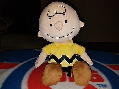 "Peanuts Gang Charlie Brown Plush 14"" Stuffed Toy Kohl's Cares"