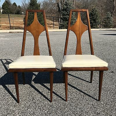 set 6 Swedish mid century modern walnut dining chairs by Edmond Spence