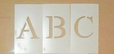 6 inch Uppercase Times New Roman Alphabet Stencil
