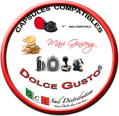 96 capsules de Ginseng compatibles DOLCE GUSTO®