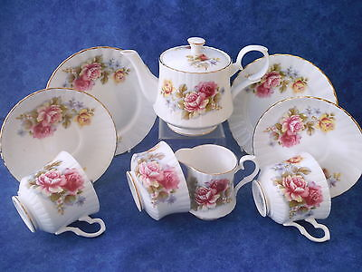 Stunning Royal Stafford Roses Tea for Two, Teapot etc..