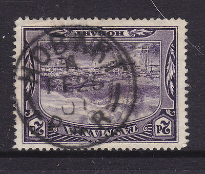 POSTMARK:  HOBART  A   P-R     ON 2d PITORIAL   FINE USED