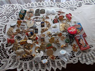 Large Lot of Misc. Pins from Advertising Logo, Religious, Disney, Etc.